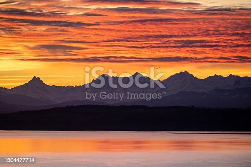 istock Burning mountains 1304477714