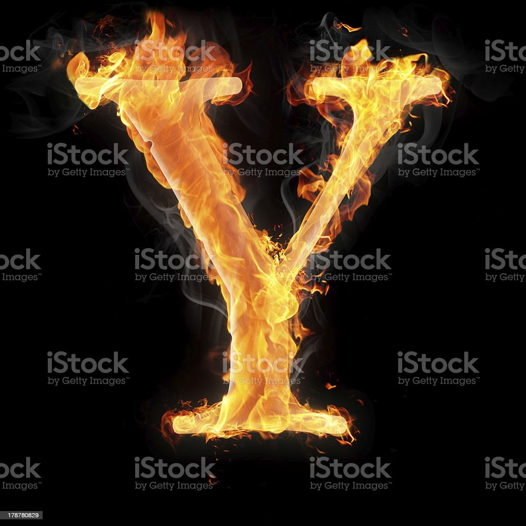 Burning objects and symbols on fire background royalty-free stock photo