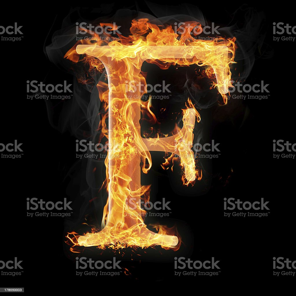 Burning objects and things on fire stock photo