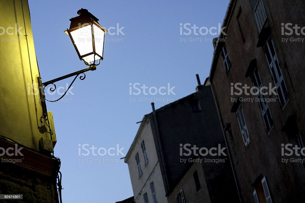 Burning of a (mid)night lamp royalty-free stock photo