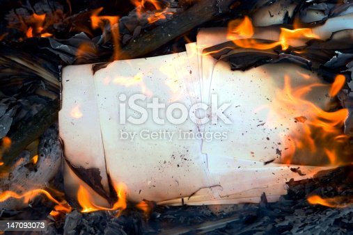 istock Burning paper 147093073