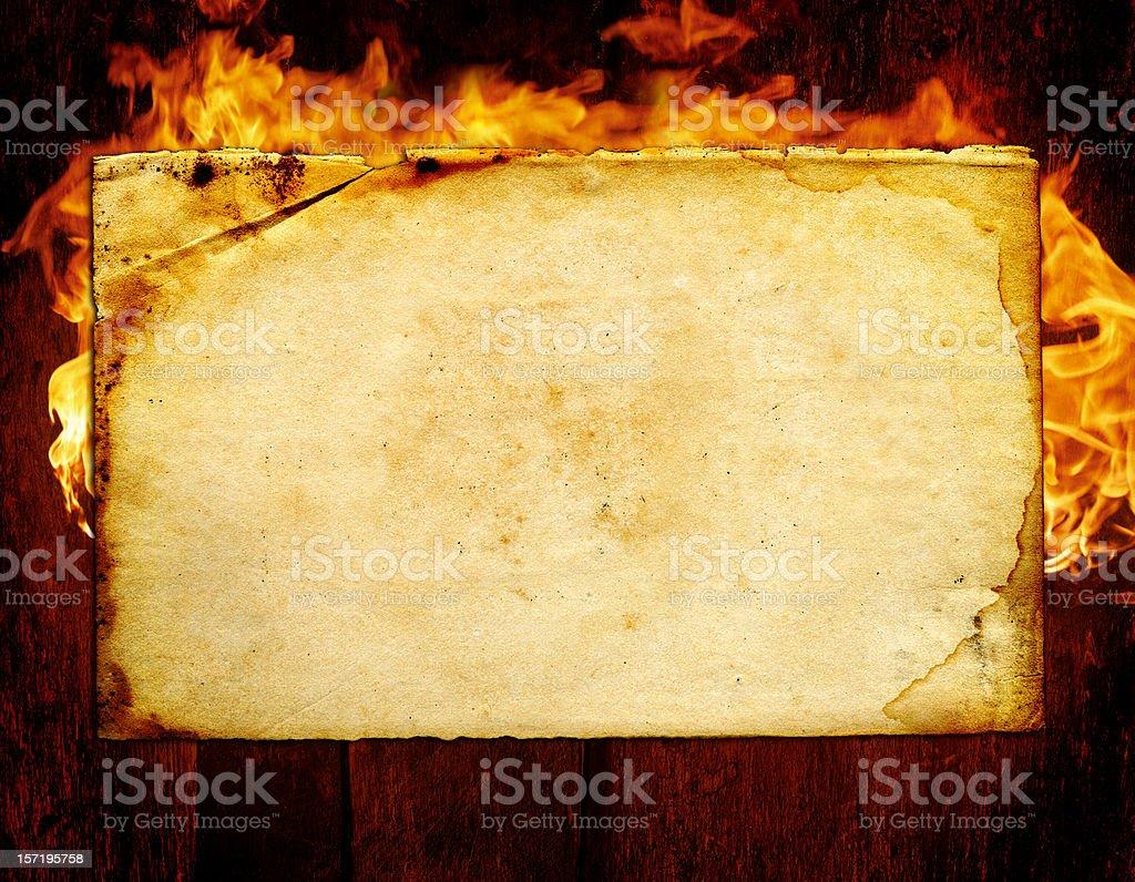 Burning Papier – Foto