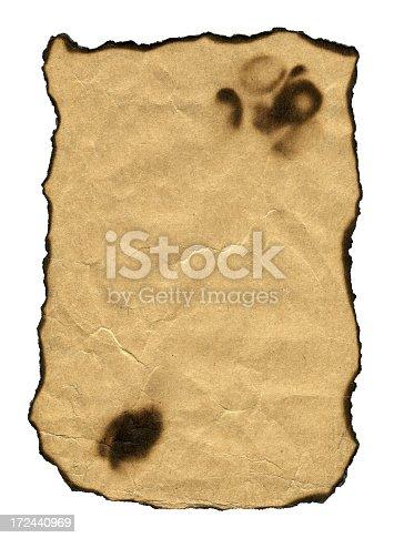 155277575istockphoto Burning paper textured isolated on white background 172440969