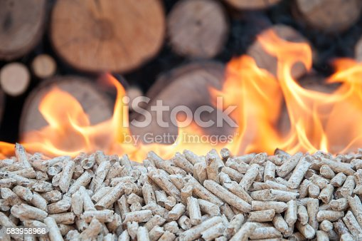 istock Burning Pellets 583958966