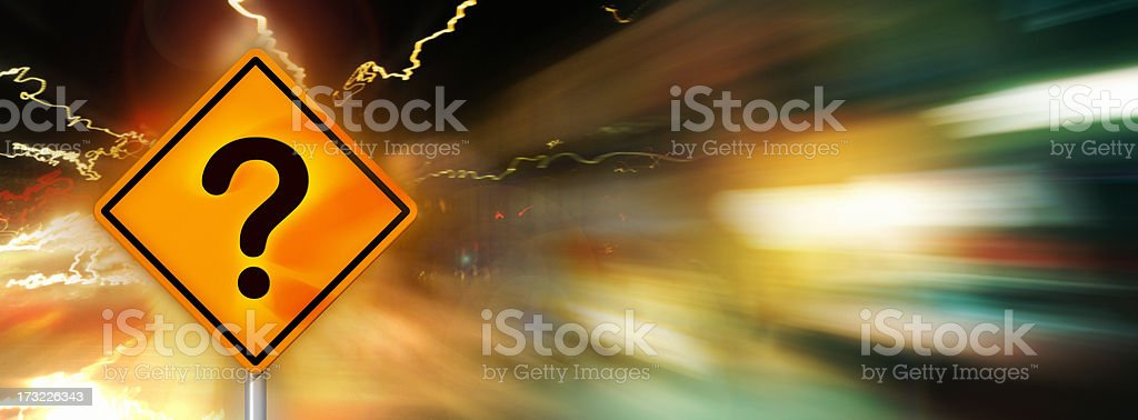 Burning Question royalty-free stock photo