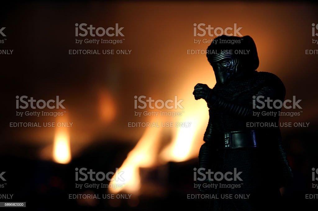 Burning Ren stock photo