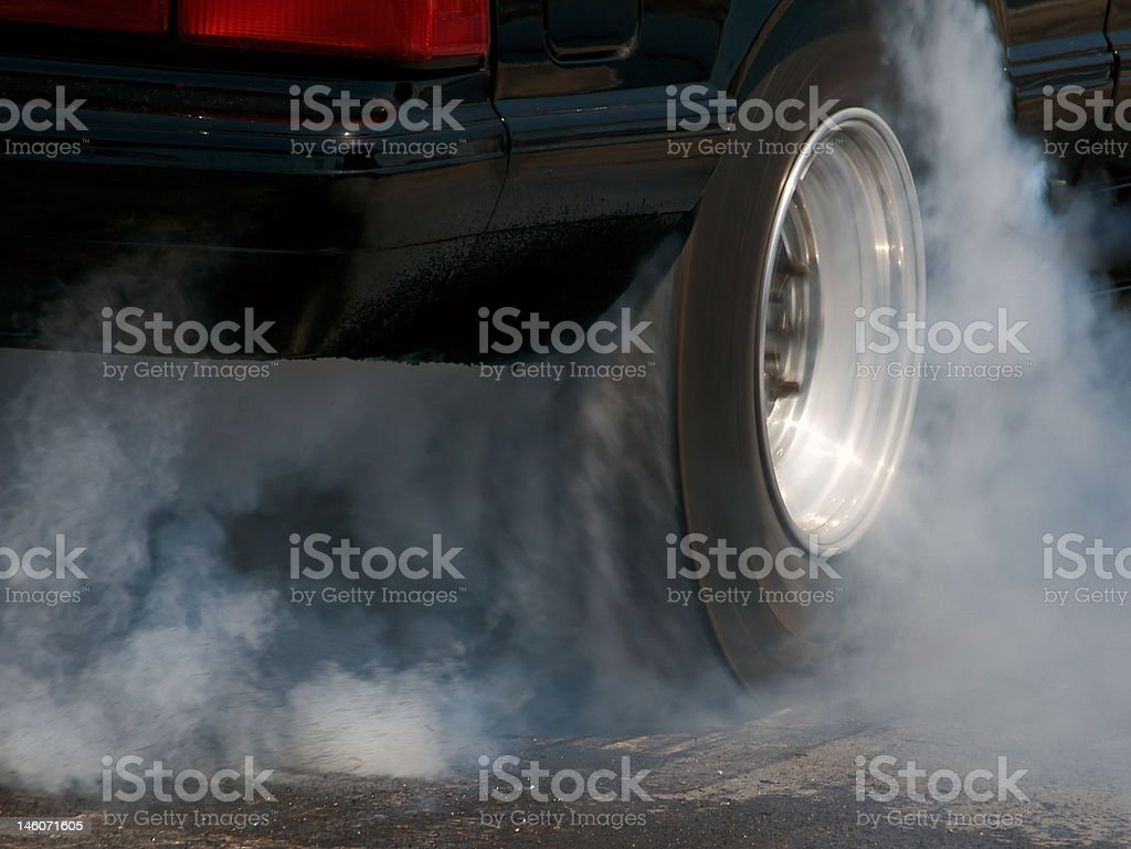 Burning rubber stock photo