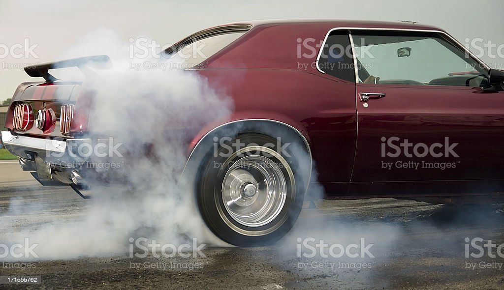 Burning Rubber! stock photo