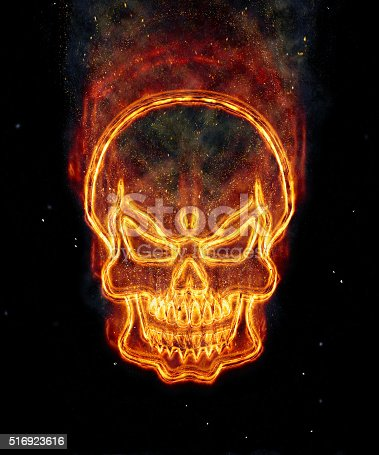 istock Burning skull 516923616