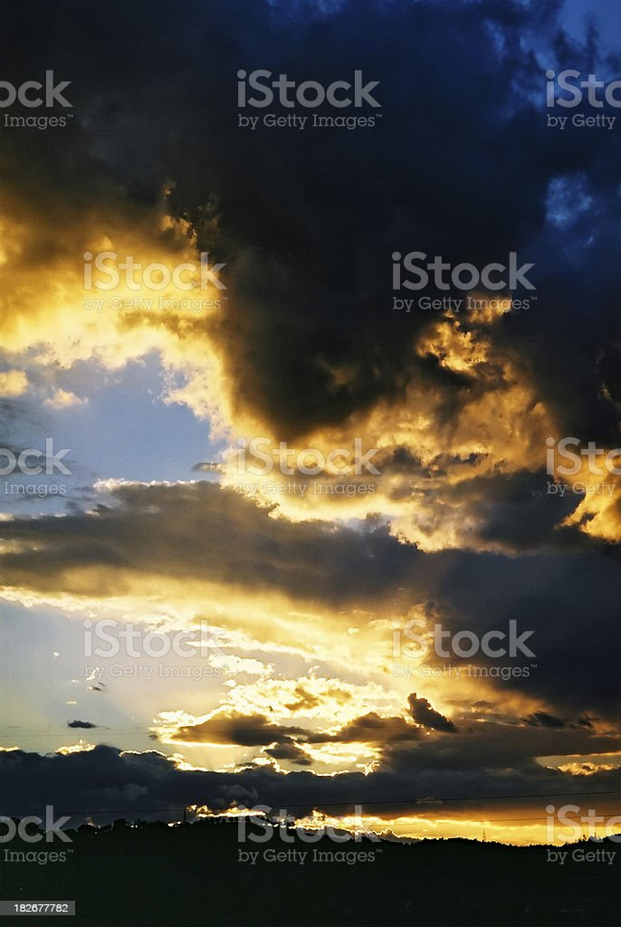 Burning Sky royalty-free stock photo