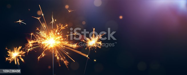 istock Burning sparkler, Happy New Year 1034236458