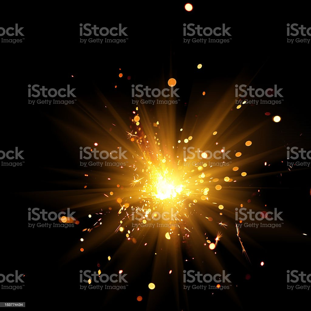 burning sparkler royalty-free stock photo