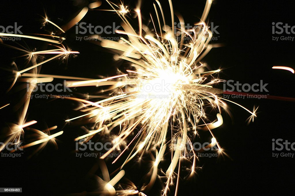 Burning Sparkler stock photo
