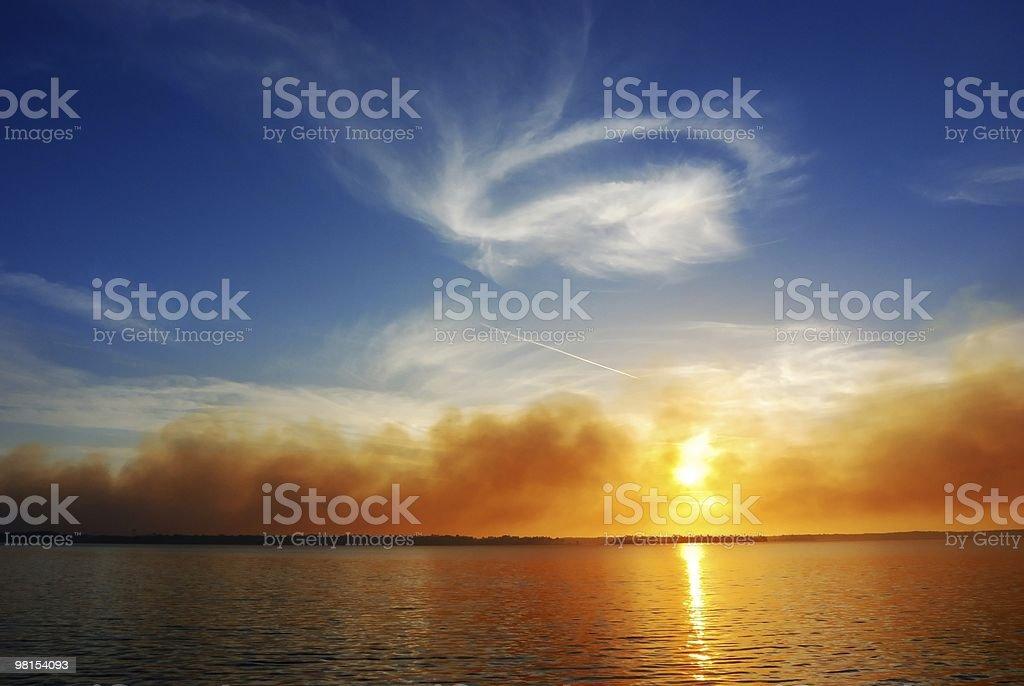 Burning Sun royalty-free stock photo