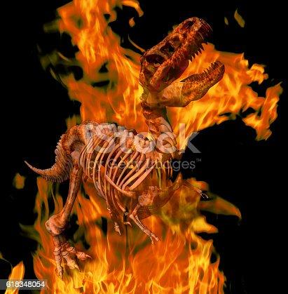 istock Burning T. Rex 618348054