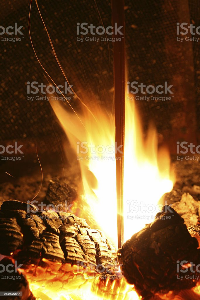 Burning the Stake royalty-free stock photo