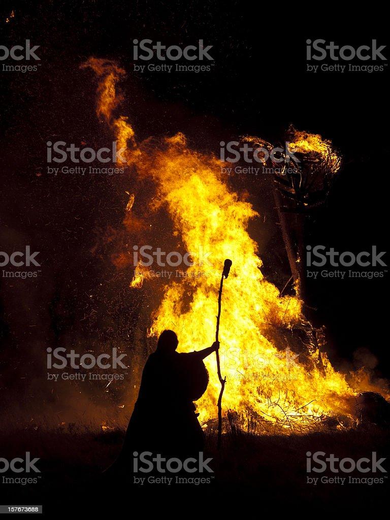 Burning the Wickerman royalty-free stock photo