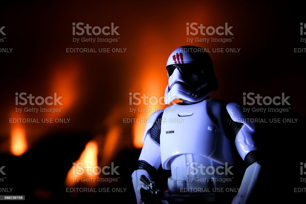 Burning Treason stock photo