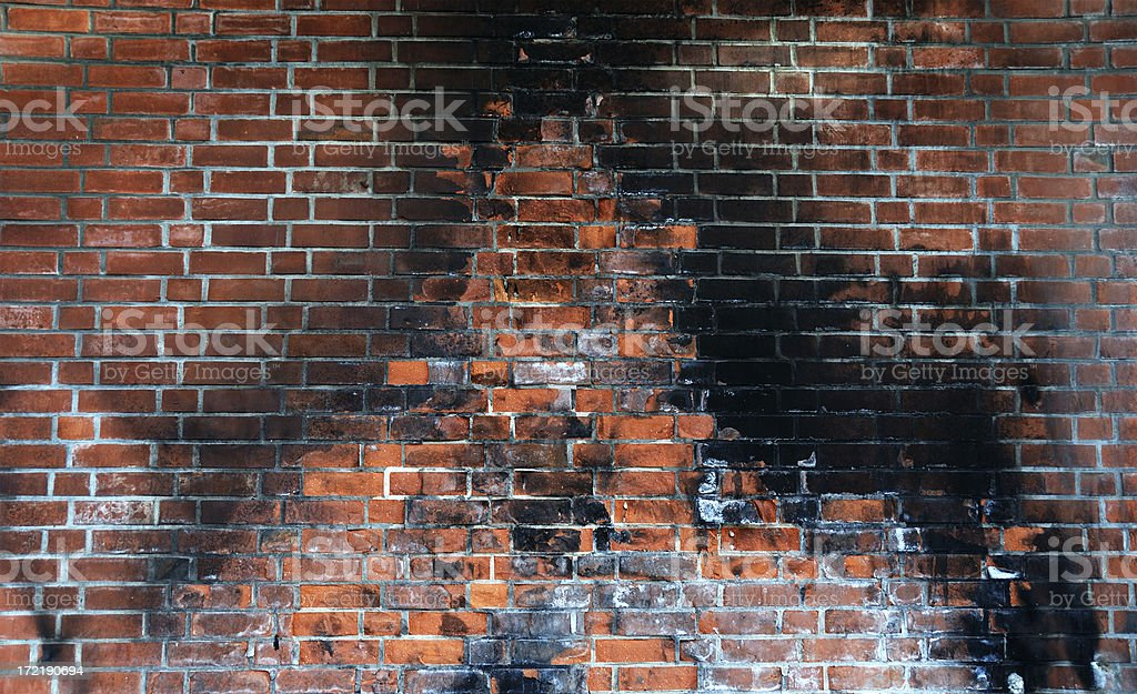 burning wall stock photo