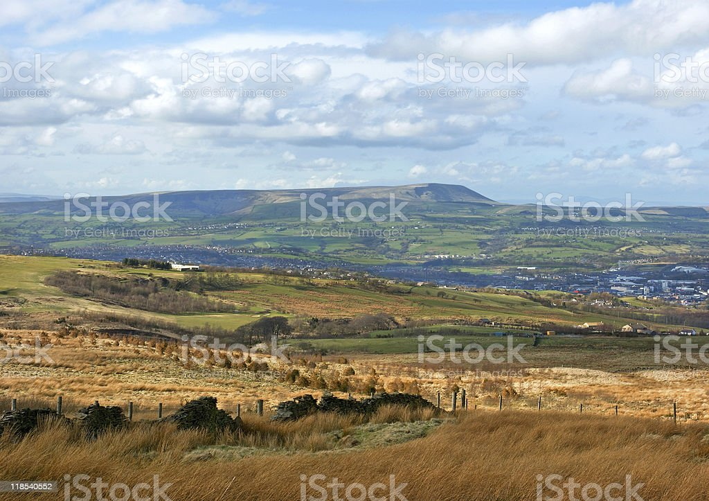 Burnley Town stock photo