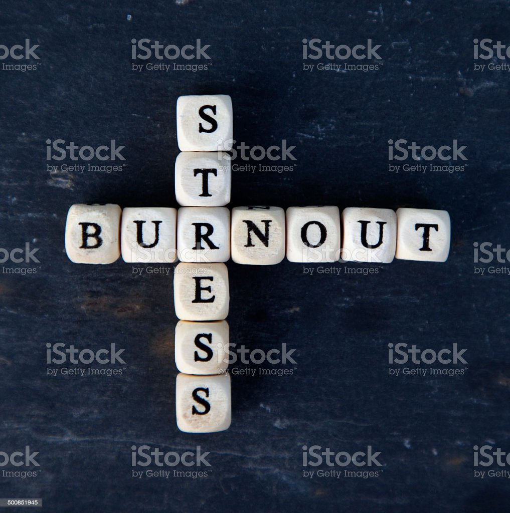 burnout and stress stock photo