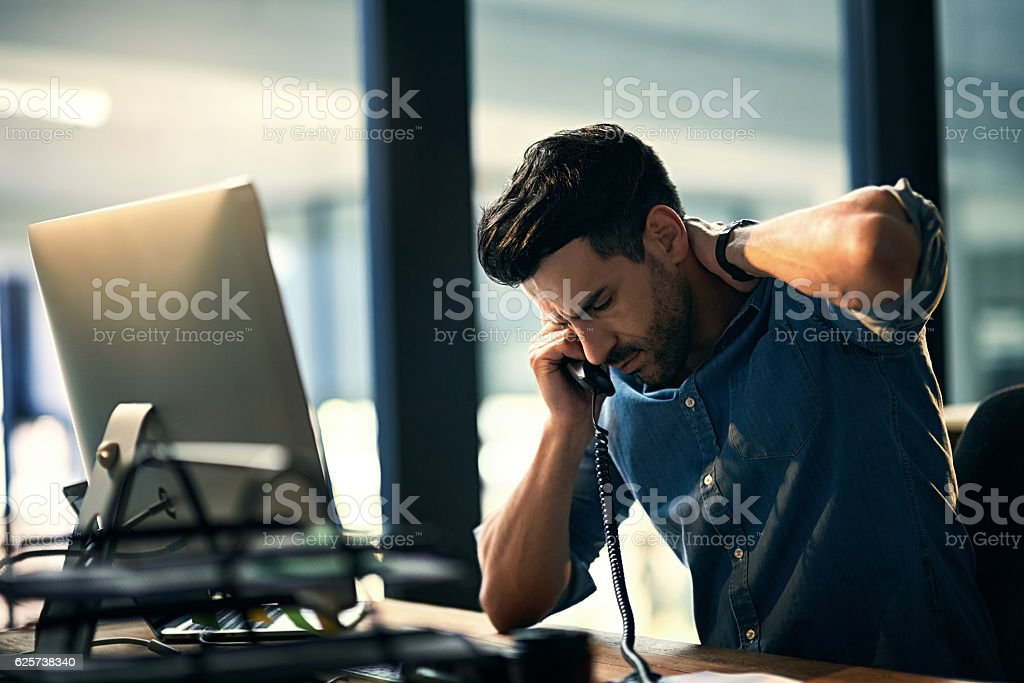 Burnout - bad for business, bad for your health stock photo
