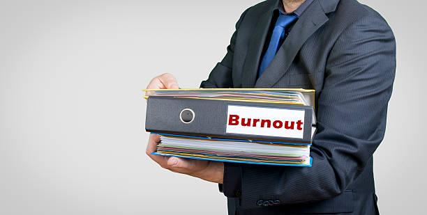 Burnout businessman stock photo