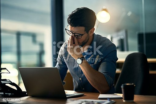 istock Burnout is killing his career 625738384