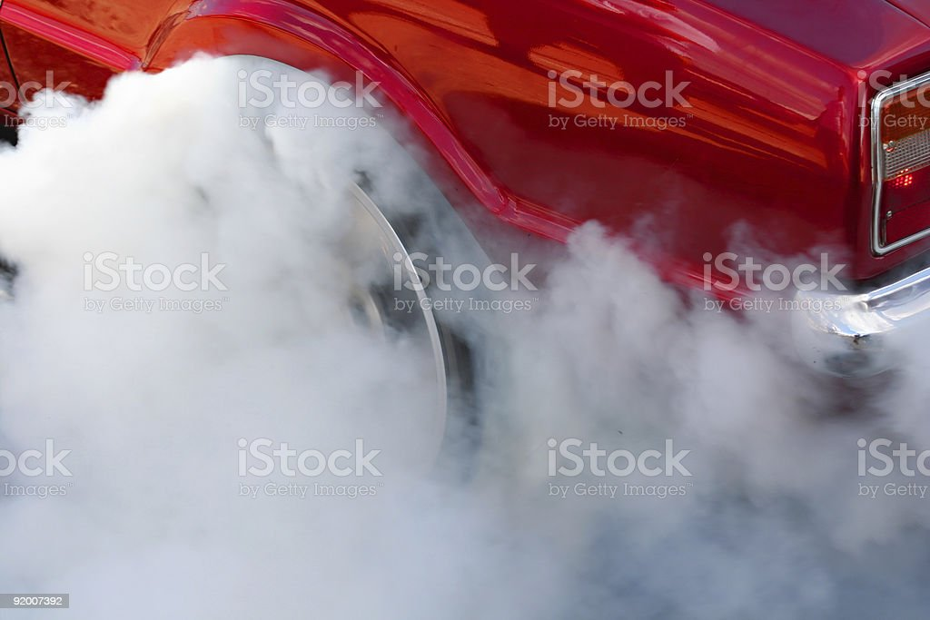 Burnout #2 stock photo