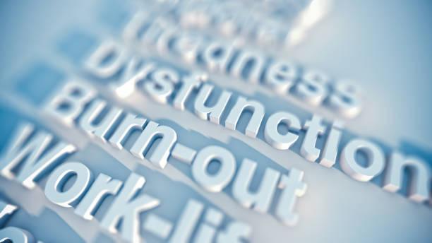 burnout syndrome stock photo