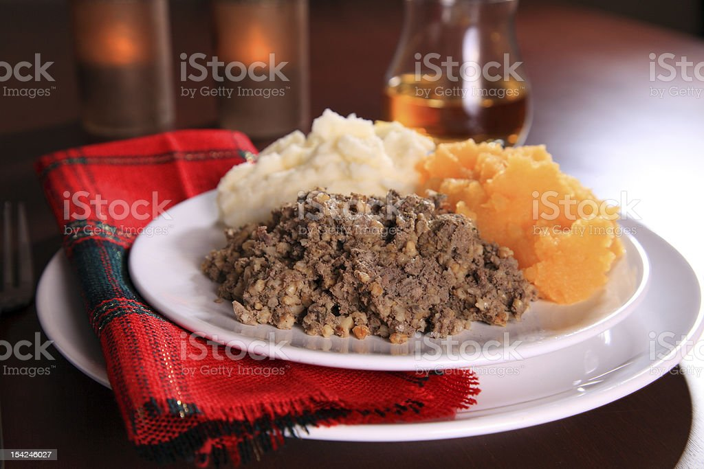 Burns Night Haggis royalty-free stock photo