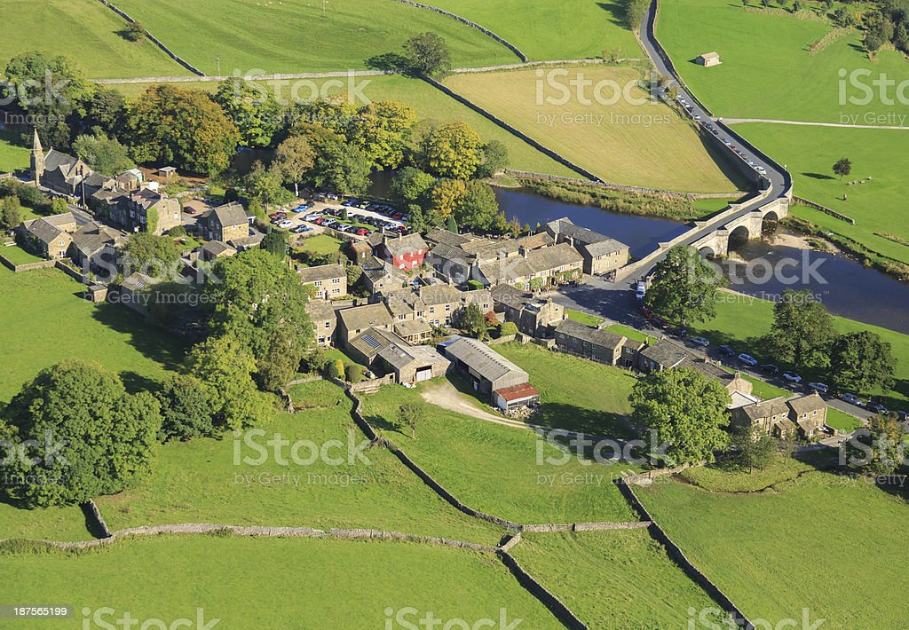 Burnsall in the Yorkshire Dales royalty-free stock photo
