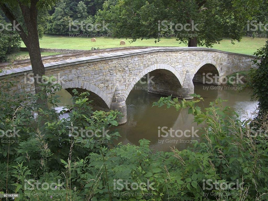Burnside Bridge Overlook stock photo