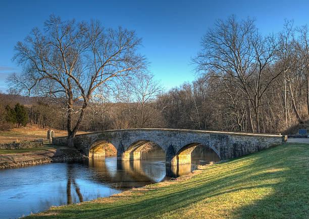 Burnside's Bridge in Sharpsburg, Maryland stock photo