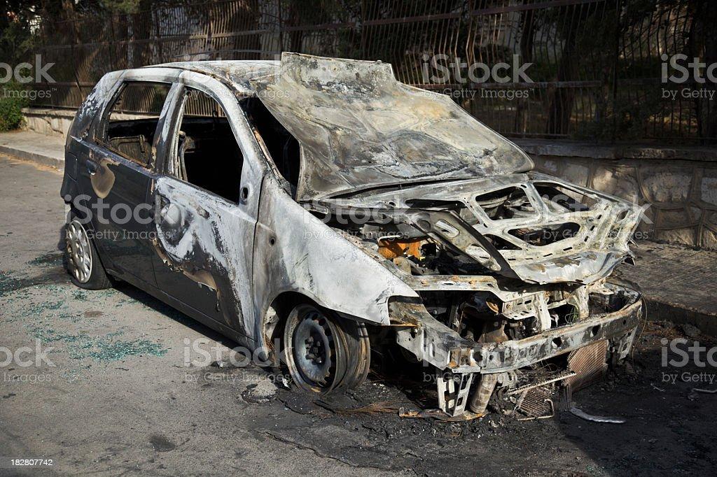 Burnt car royalty-free stock photo