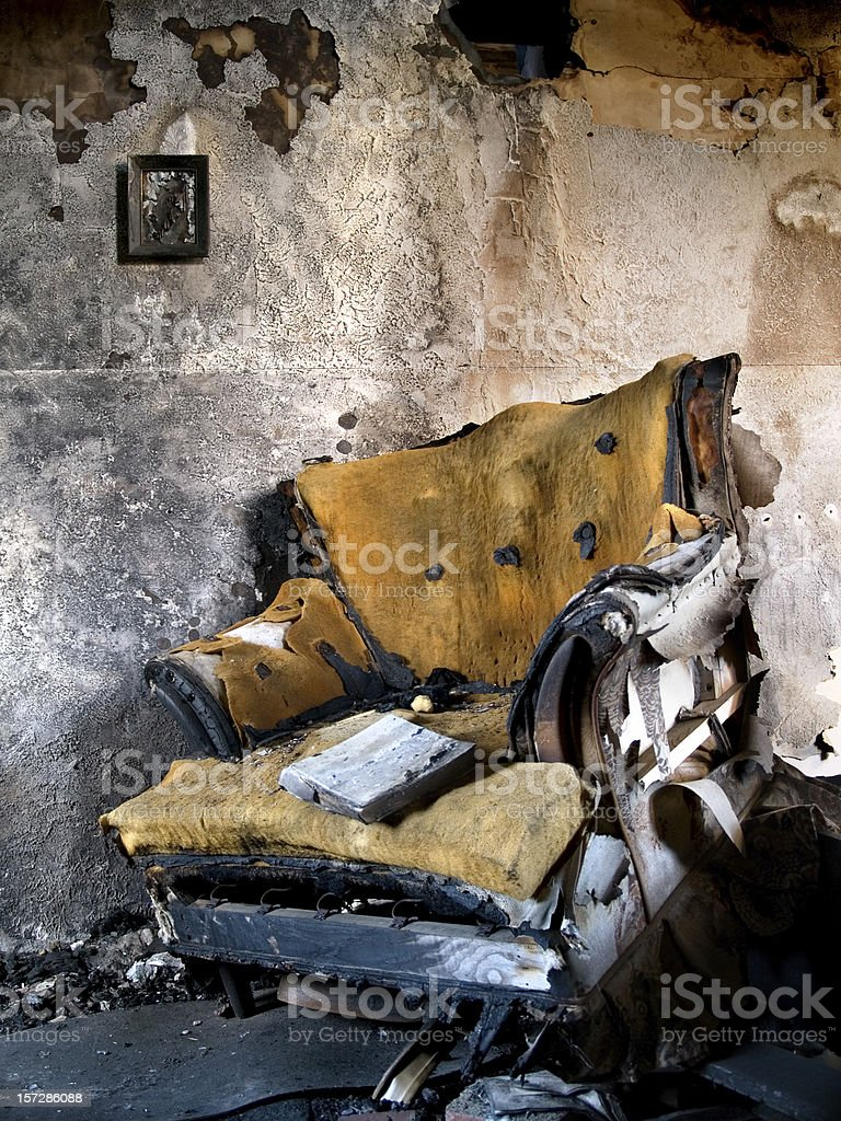 Burnt Chair royalty-free stock photo