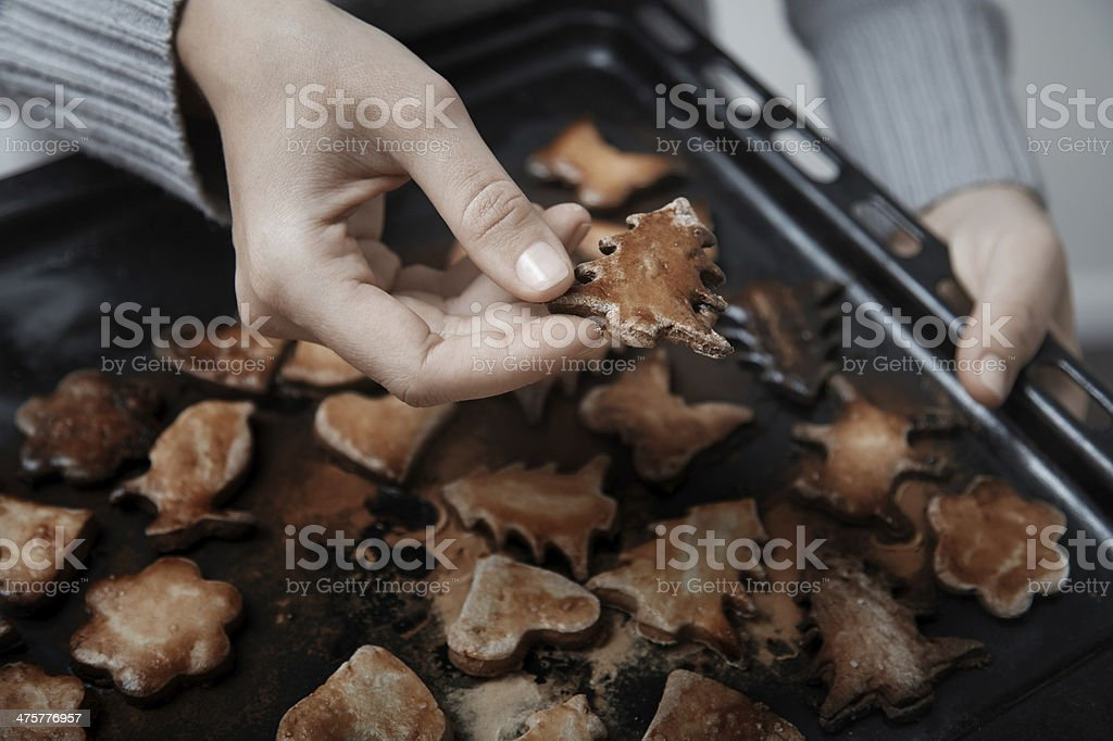 Burnt cookies royalty-free stock photo