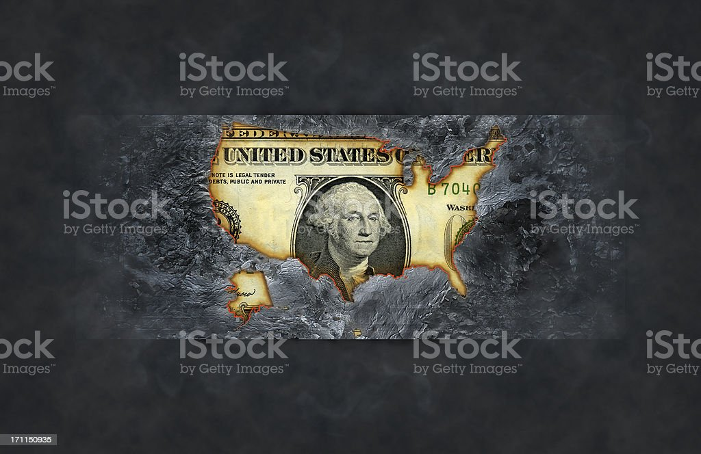 Burnt dollar royalty-free stock photo