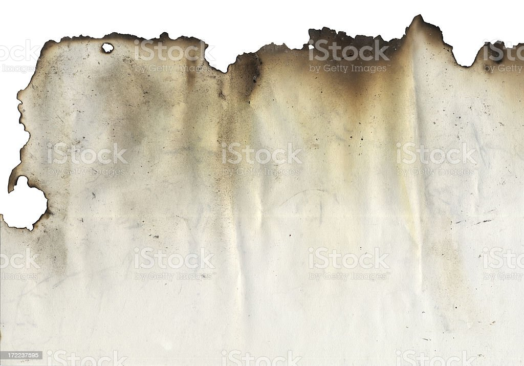 Burnt Edge stock photo