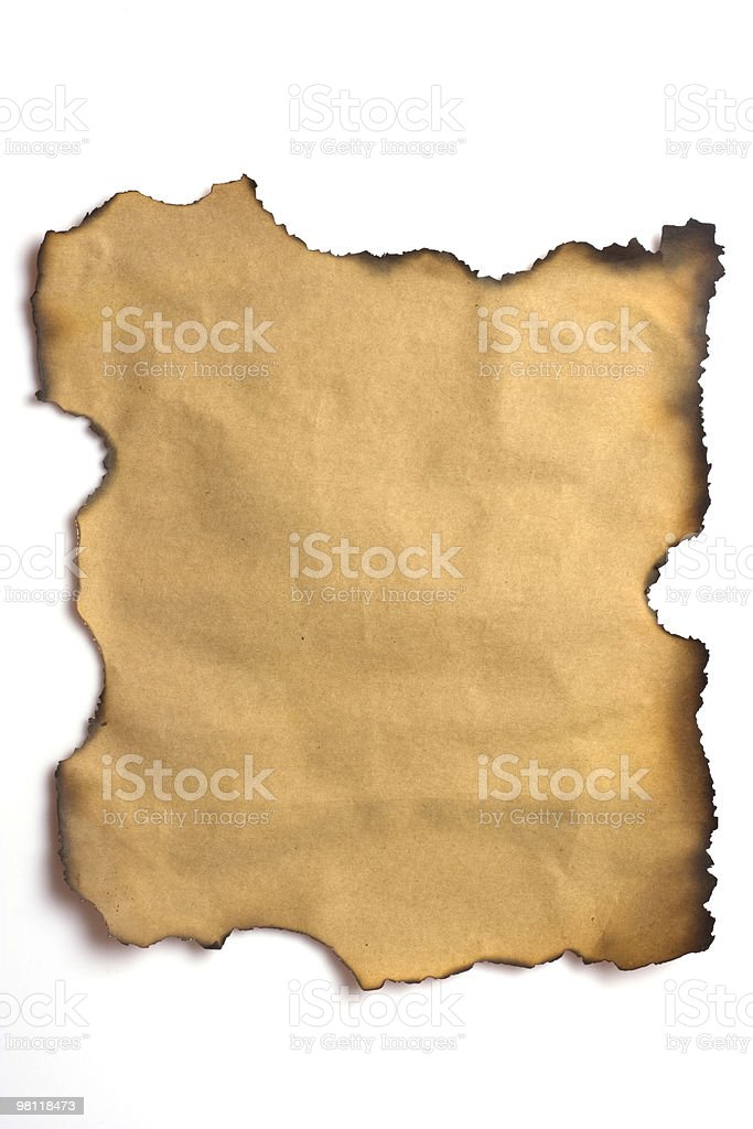 burnt edges paper royalty-free stock photo
