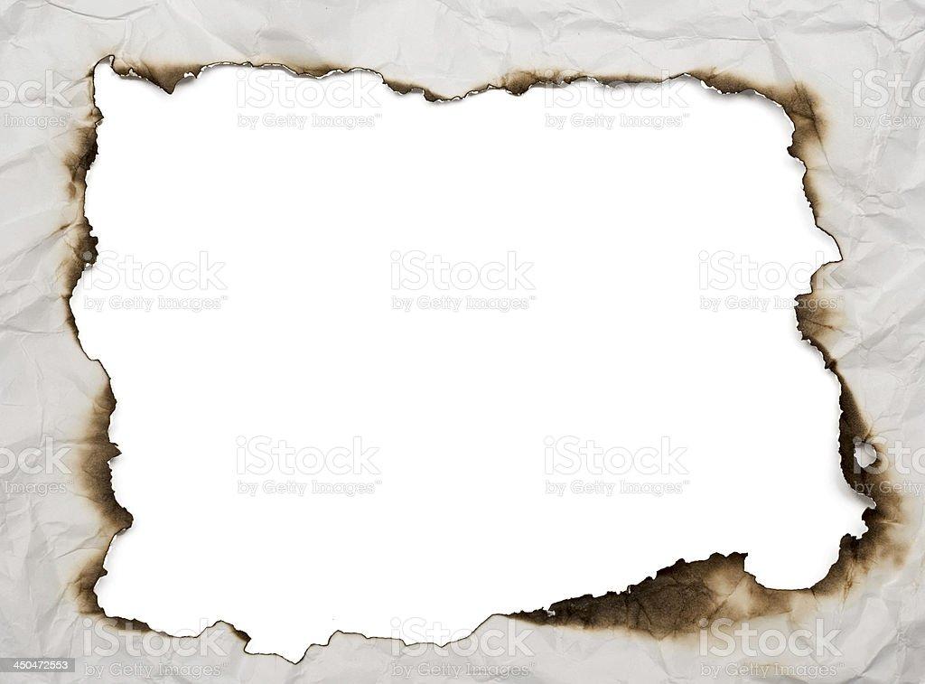 burnt frame stock photo