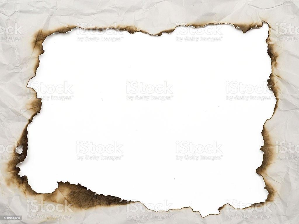 burnt frame royalty-free stock photo