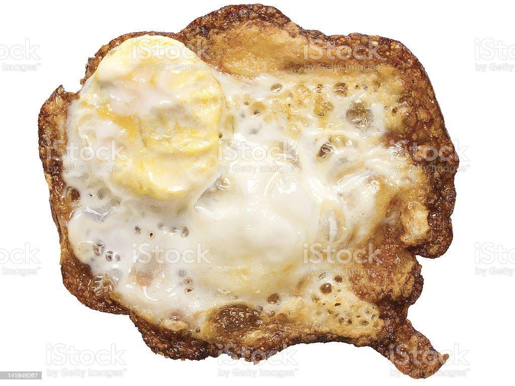 burnt fried egg royalty-free stock photo