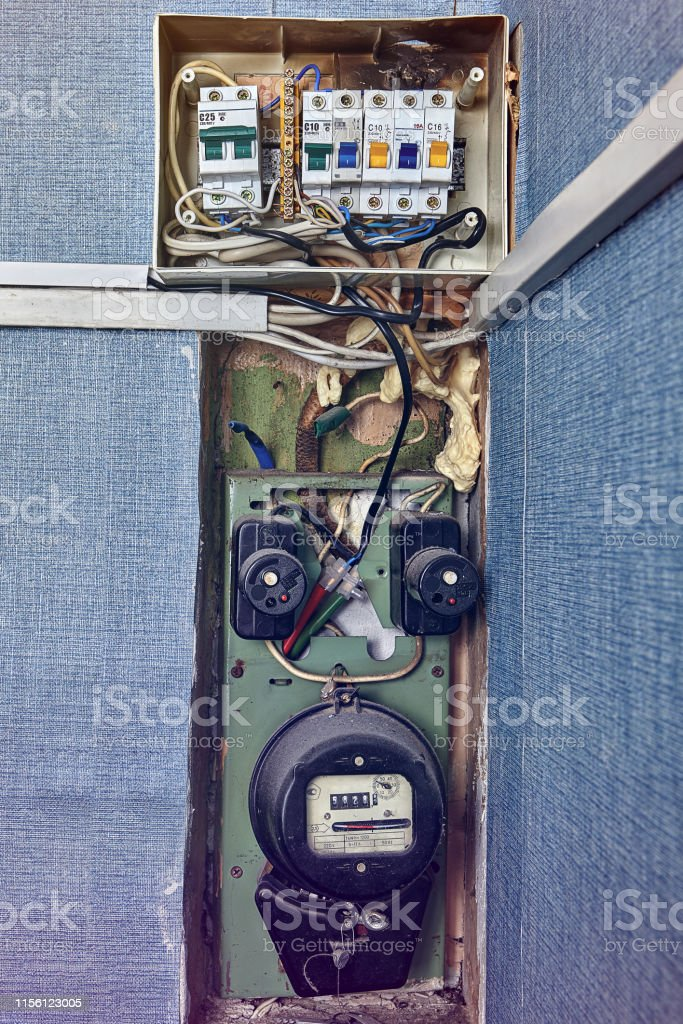 Burnt Fuse Box Home Wiring Diagram With Meter Stock Photo - Download Image  Now - iStock