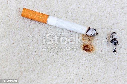 Burnt hole with a Cigarette
