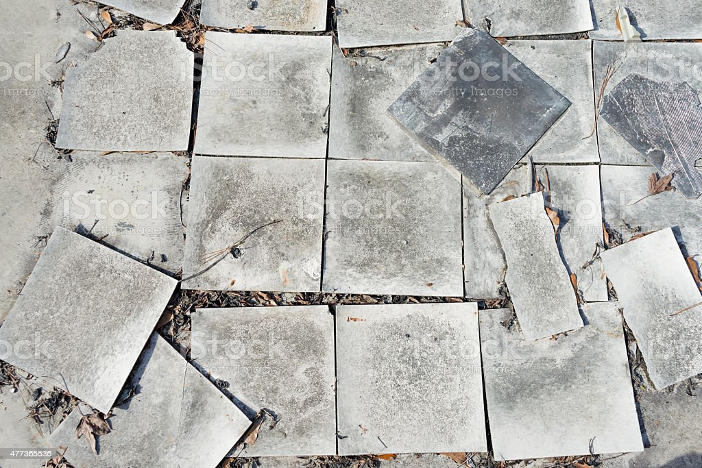 Burnt hotel floor. stock photo