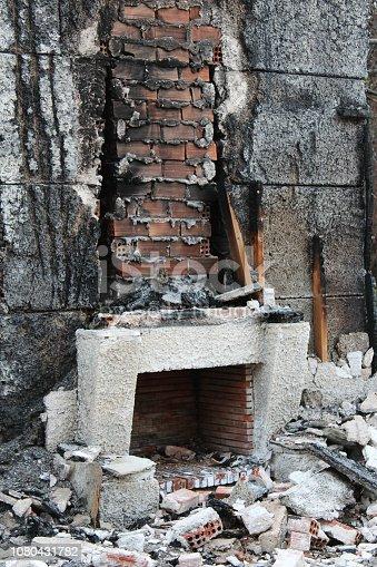 istock Burnt House Fireplace 1080431782