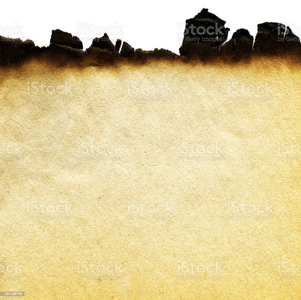 Burnt Paper Background royalty-free stock photo
