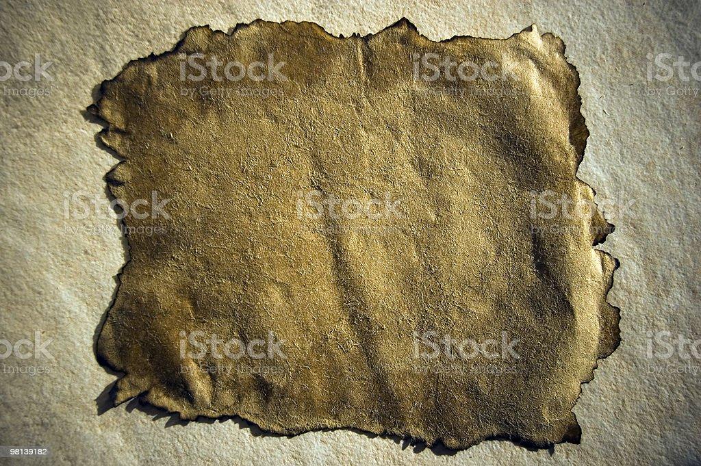 Bruciato carta sfondo foto stock royalty-free