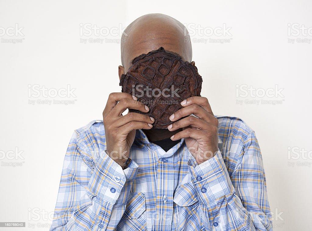 Burnt Waffle Face stock photo